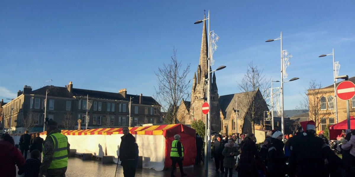 The Helensburgh Winter Festival 2017 - Stalls in Colquhoun Square