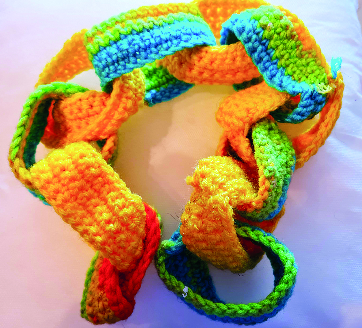 Paperchain Knitted Chain Links